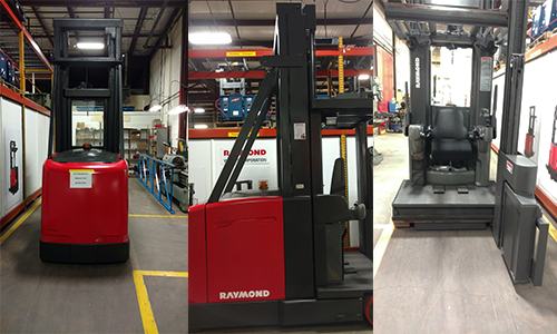 Werres Corporation Used Raymond Swing Reach Truck