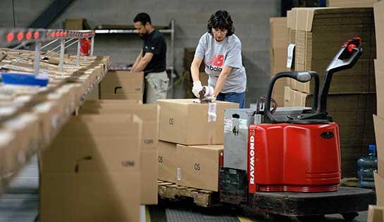 Raymond pallet jack, conveyor system, labor management system