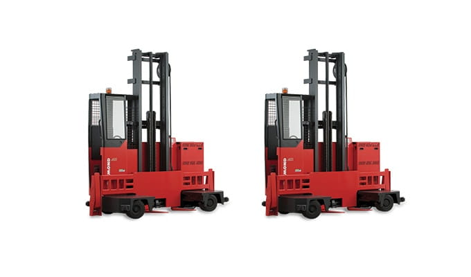 Sideloader, Long Load Forklift, narrow aisle forklift